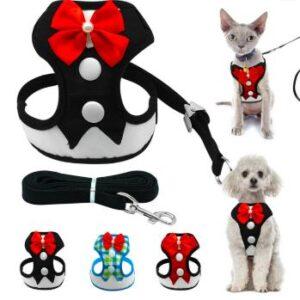 Tuxedo Dog Harness – Fancy Bow Tie Pet Vest