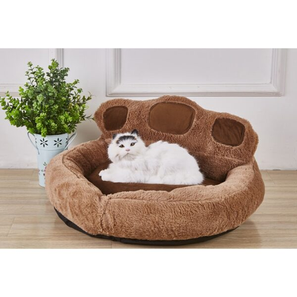 High-quality-Cute-Bear-Paw-Shaped-Dog-Beds-Waterproof-Pet-Cat-Bed-Mat-Sofa-Warm-Cozy
