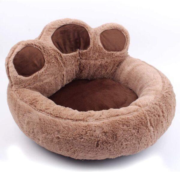Bear Paw Pet Bed Brown