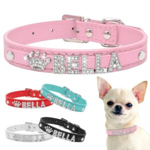 Bling Dog Collars – Personalized Collars with Rhinestone Letters & Charms
