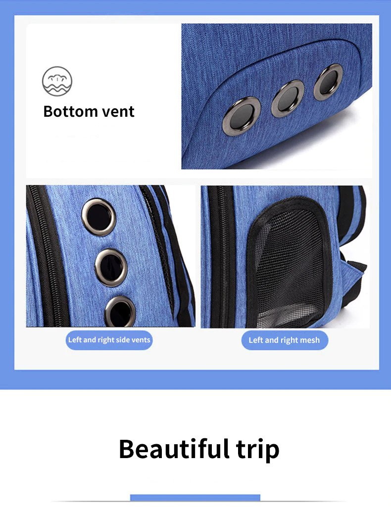 Bottom Vent openings on a pet carrier backpack