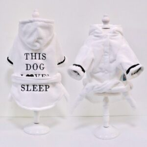 Dog Bathrobe – Soft Cotton Dog Pajamas with Hood