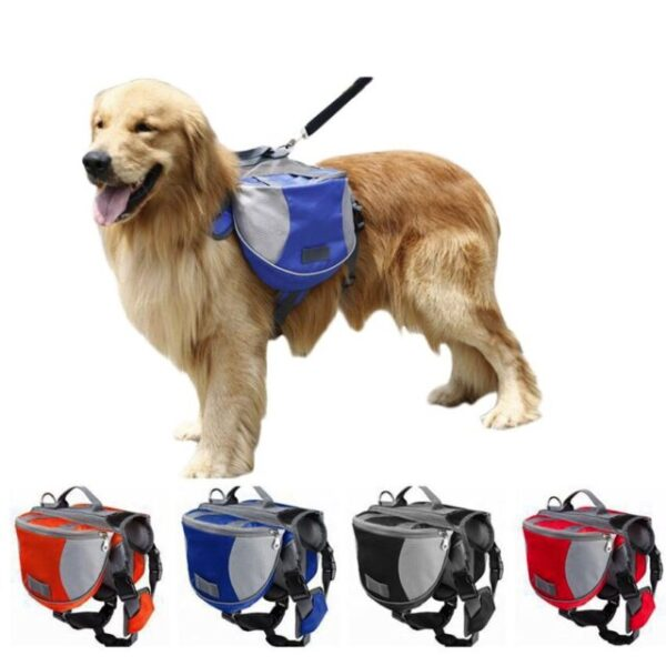 Dog Backpack Harness - Hiking Saddle Bags For Dogs