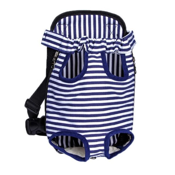 Dog Travel Backpack Blue with white