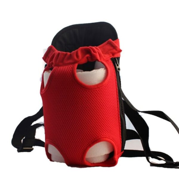 Dog Travel Backpack Red
