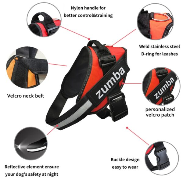 Features of No Pull Personalized Dog Harness