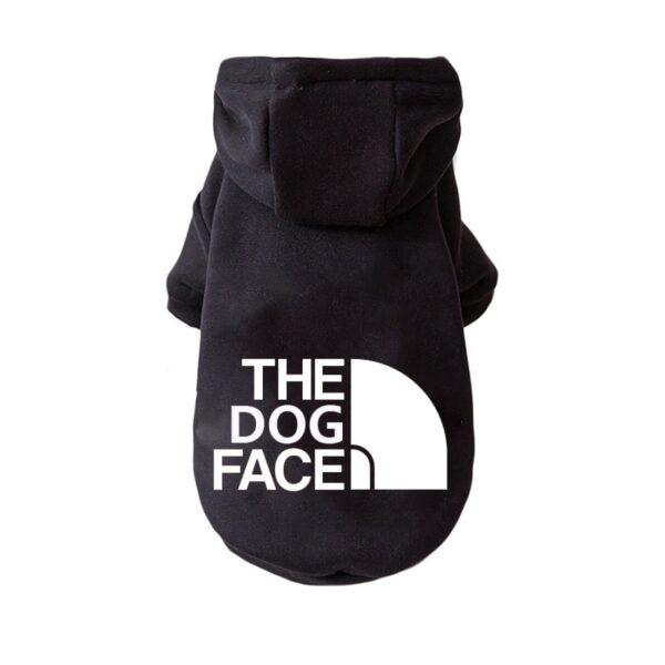 Dog Hoodie Black Large Logo