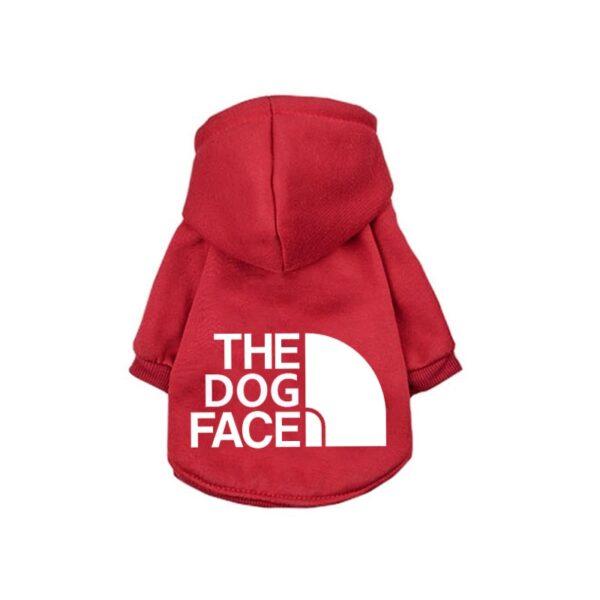 Dog Hoodie Red Large Logo