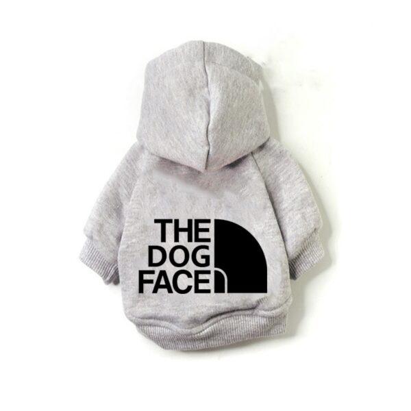 Dog Hoodie Grey Large Logo