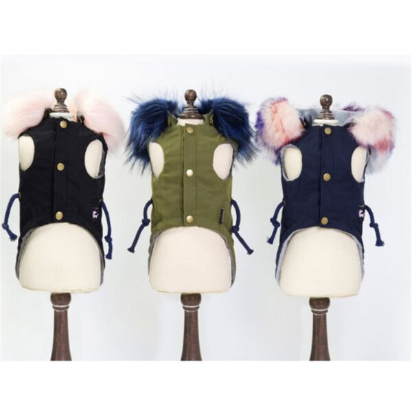 Front side of winter dog coats
