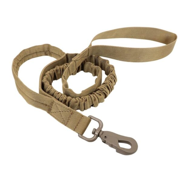 Bungee leash for tactical dog harness