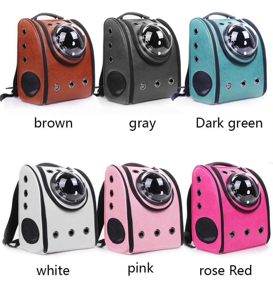 Multiple colors for pet bubble backpack