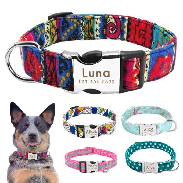Custom Dog Collars with name tag