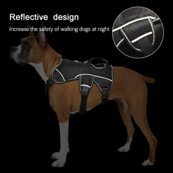 Reflective design of nylon dog harness