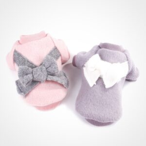 Cute Dog Sweaters – Soft Cotton Dog Jumpers with Bow Tie