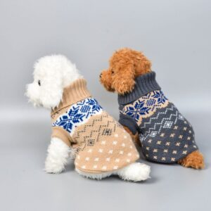Christmas Dog Jumper – Classic Puppy Turtleneck Sweater