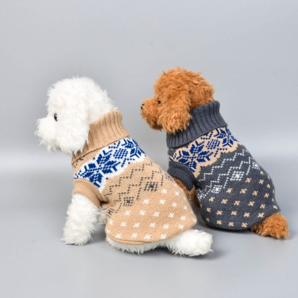 Dog Toys wearing christmas dog jumpers