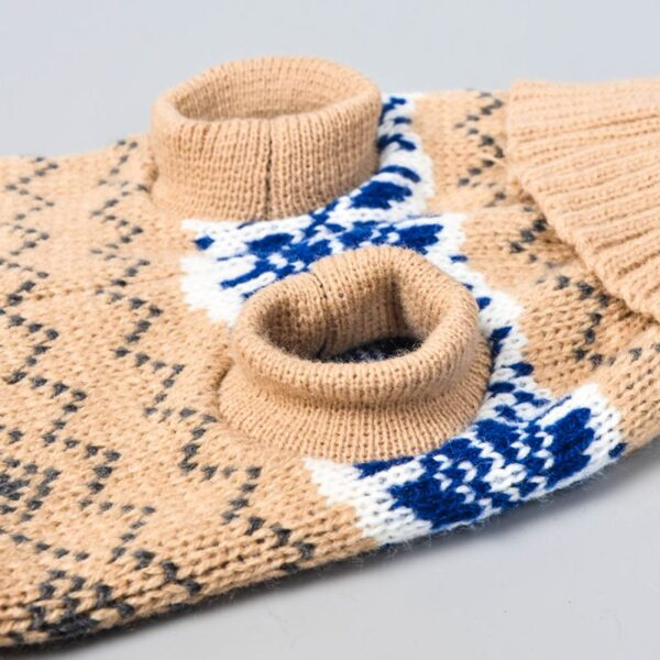 Christmas Dog Sweater Beige