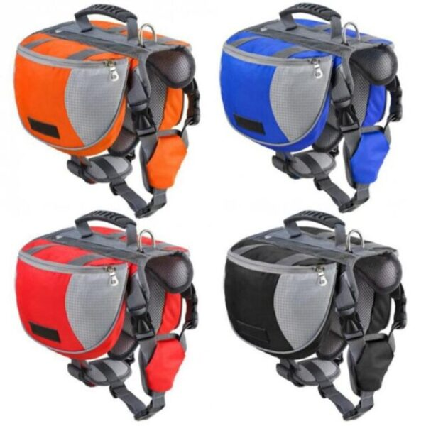 Multiple Colors of Dog Backpack Harness