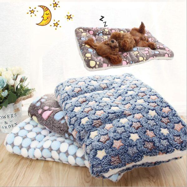 Dog Sleeps on a Pet Blanket Cover