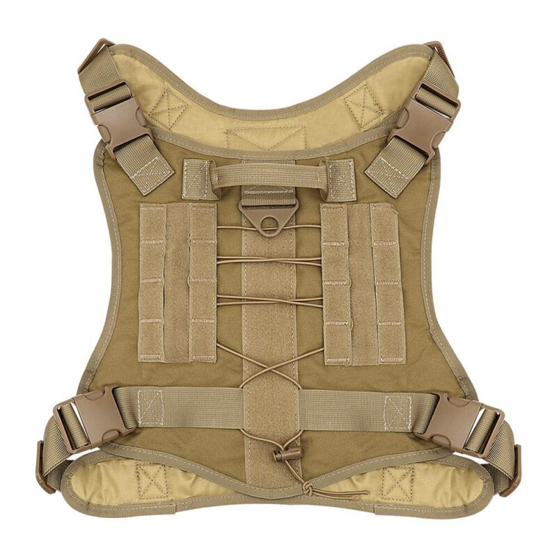 Back side of the military dog vest