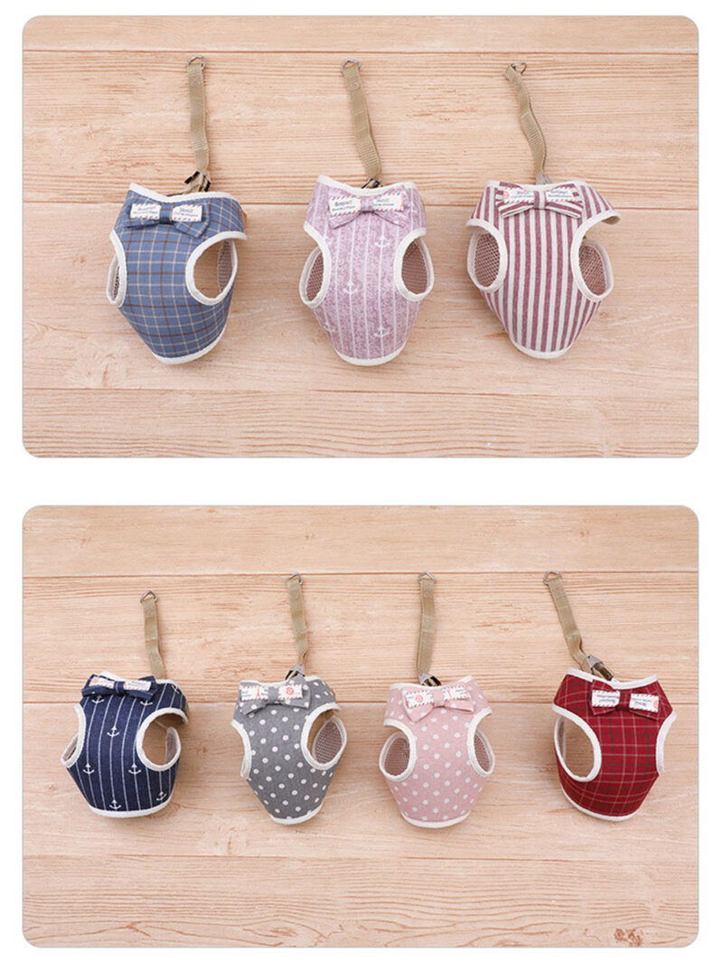 Beautiful color designs of small dog harness