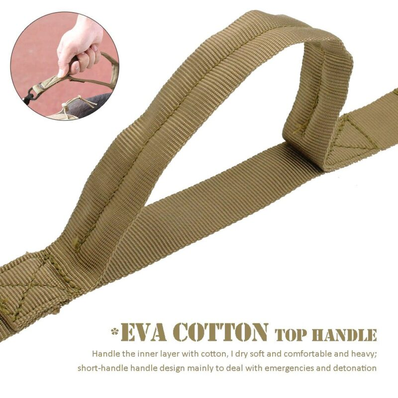 Eva Cotton Top Handle on the dog harness