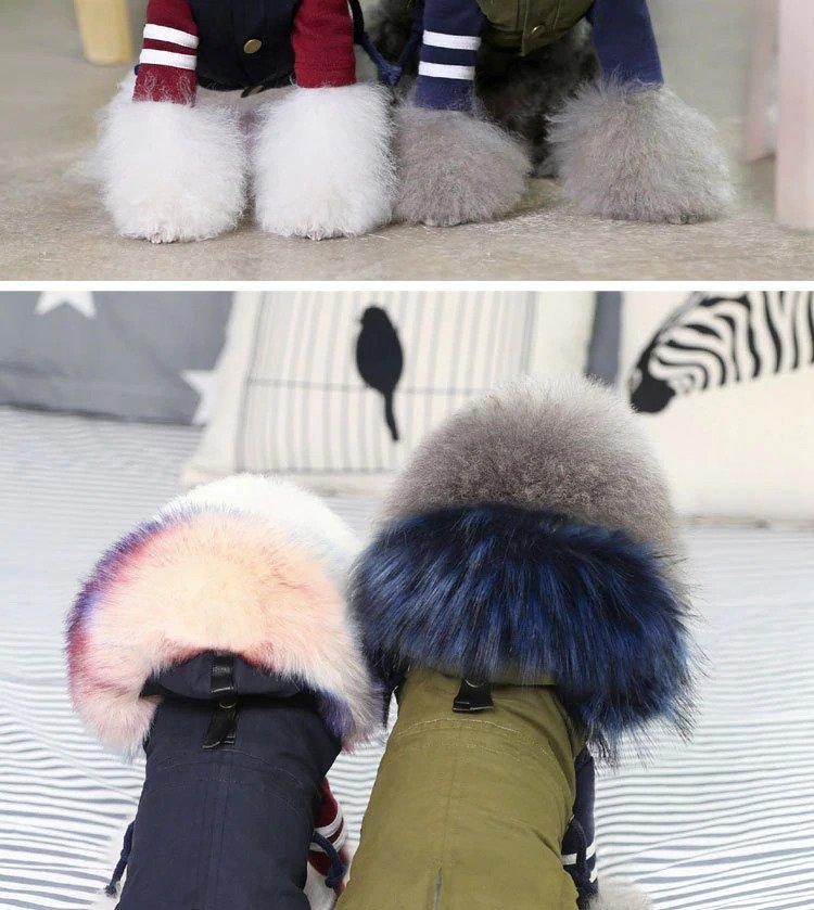 Faux Fur dog coats