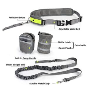 Hands Free Dog Leash – Dog Running Belt