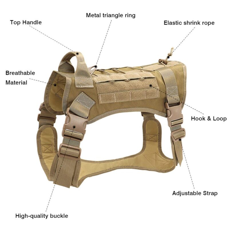 Features of tactical dog harness