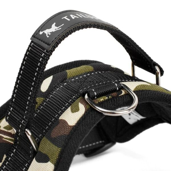 Hand strap on a no pull dog harness