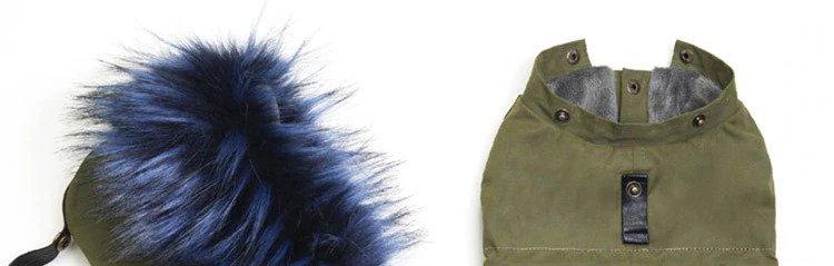 Hooded dog jackets