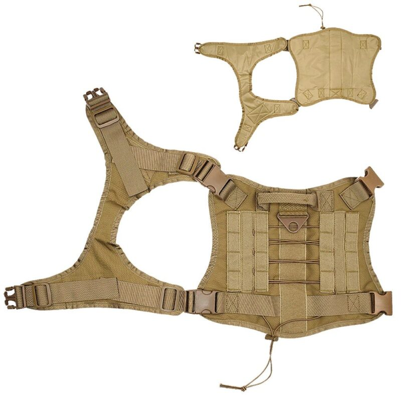 fully opened tactical dog harness
