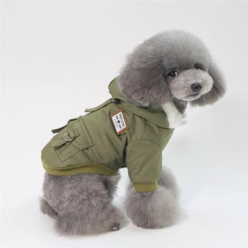 Green Military Dog jacket