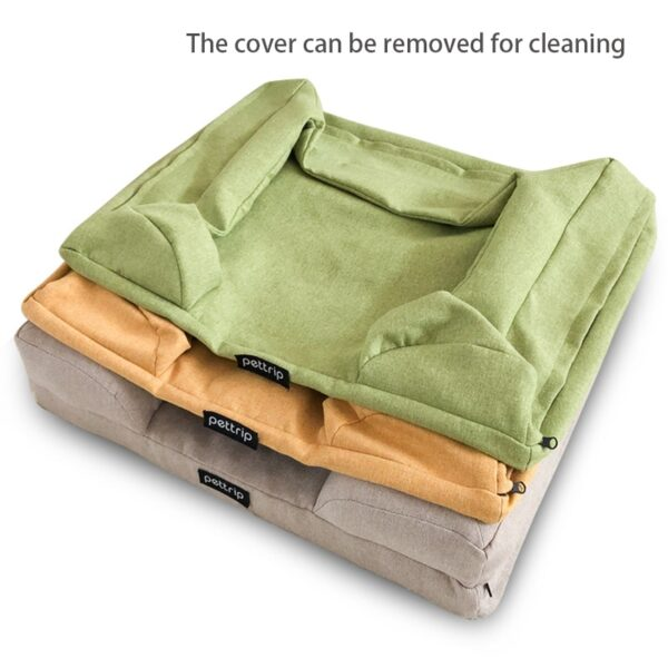 Removable and Machine Washable covers for pet sofa bed