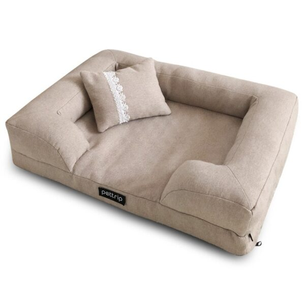 Khaki Elegant pet sofa bed