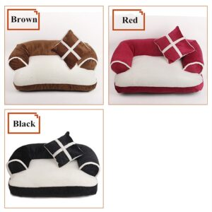Soft Pet Sofa Bed – Stylish Dog or Cat Lounge