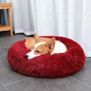 Calming Dog Bed – Faux Fur Anti-Anxiety Pet Bed