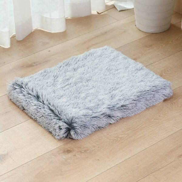 Grey Memory Foam Fazu Fur Dog Bed