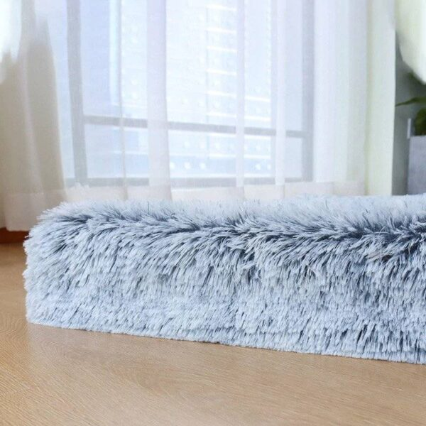 Orthopedic Memory Foam Dog Bed With Faux Fur