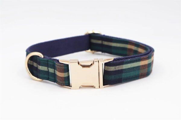 tweed tartan dog collar