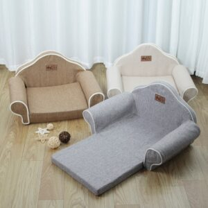 Foldable Dog Sofa Bed – Suitable for Small and Medium Size Pets
