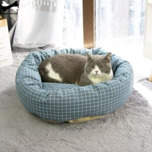 Round Cat Nest With Pillow