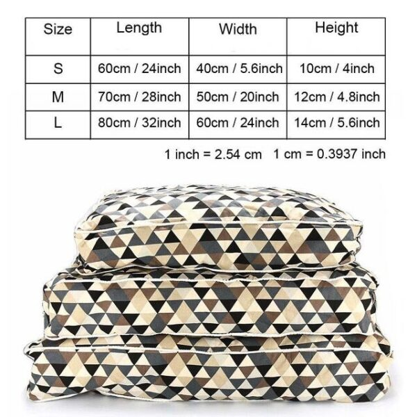dimensions of modern dog mattress