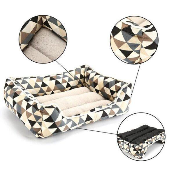 non-slip bottom of bolster dog bed