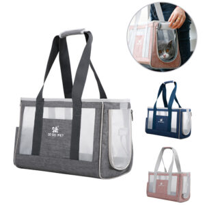 Portable Pet Cat Bag Breathable Dog Carrier Backpack Large Capacity Travel Pet Handbag For Puppy Kitten Pets Outdoor Supplies